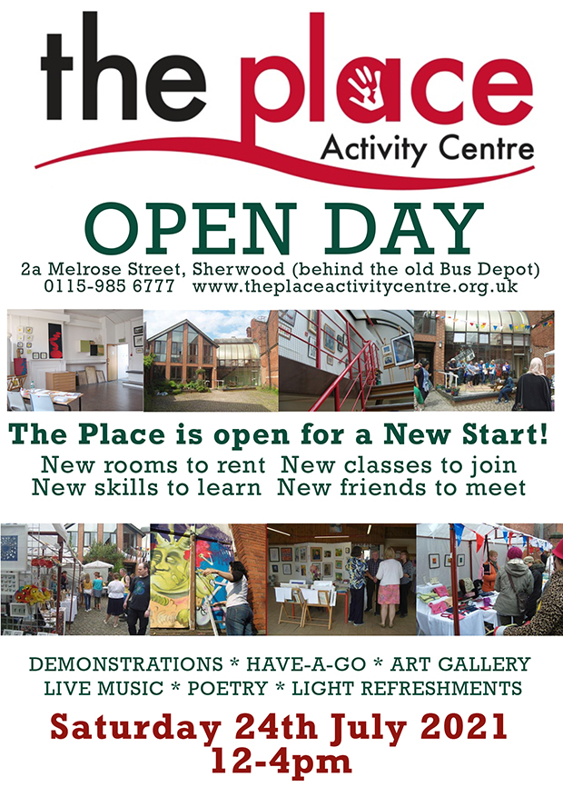 The Place Sherwood Open Day Poster